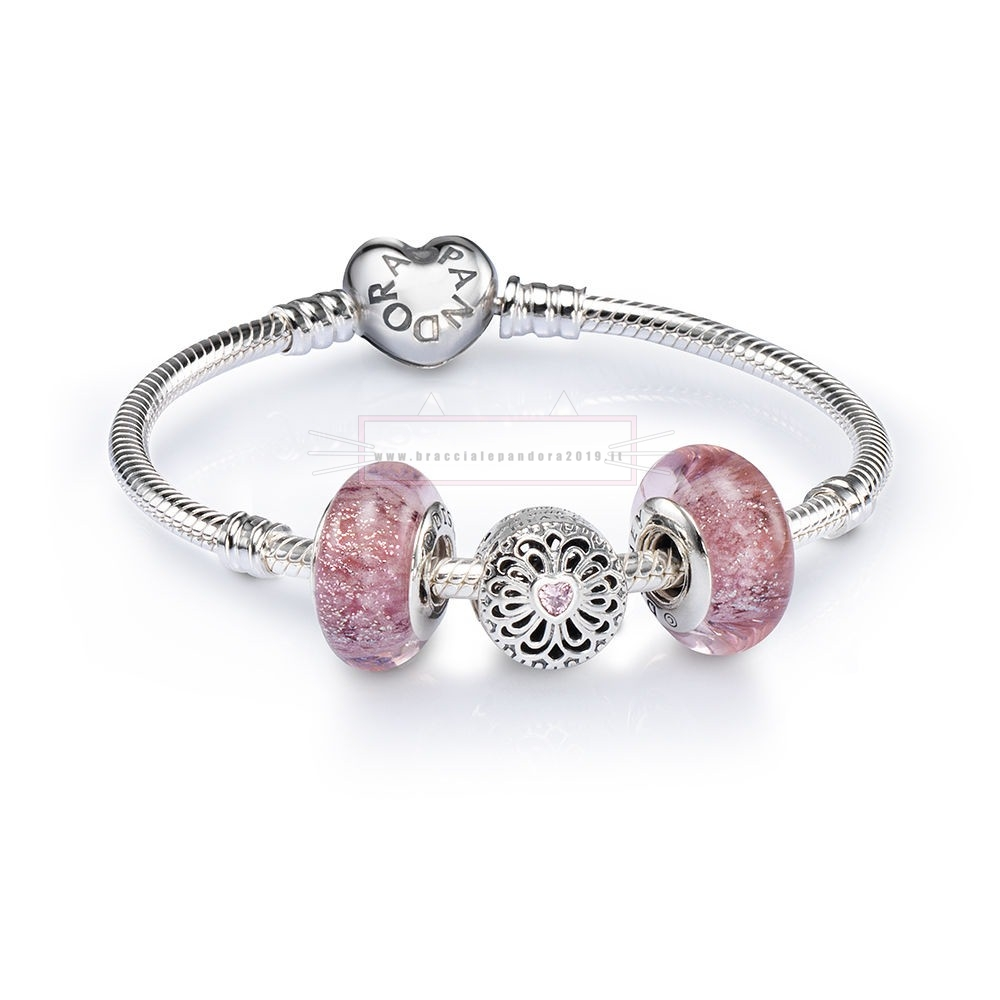 Ciondoli Pandora In Offerta Sale Love And Friendship Openwork Charm Bracelet Set