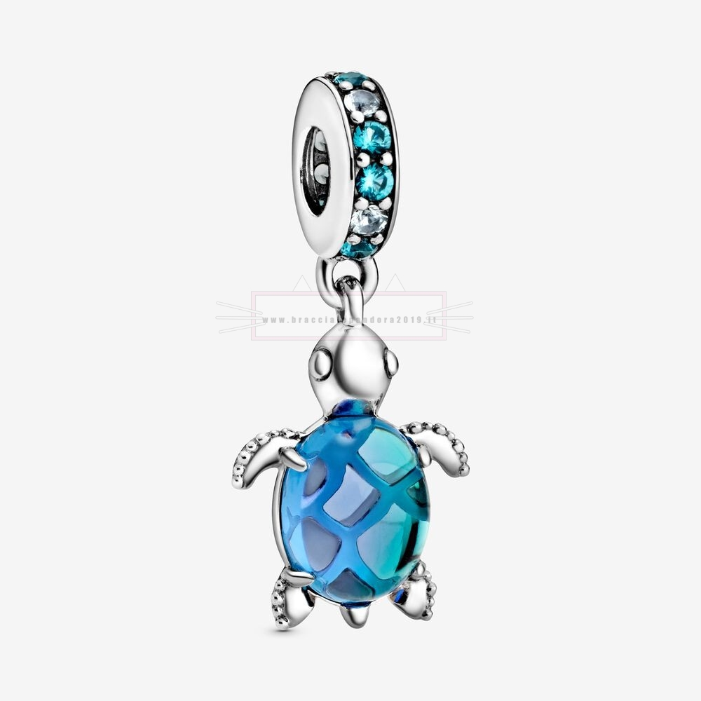 Ciondoli Pandora In Offerta Murano Glass Sea Turtle Penzolare Fascino