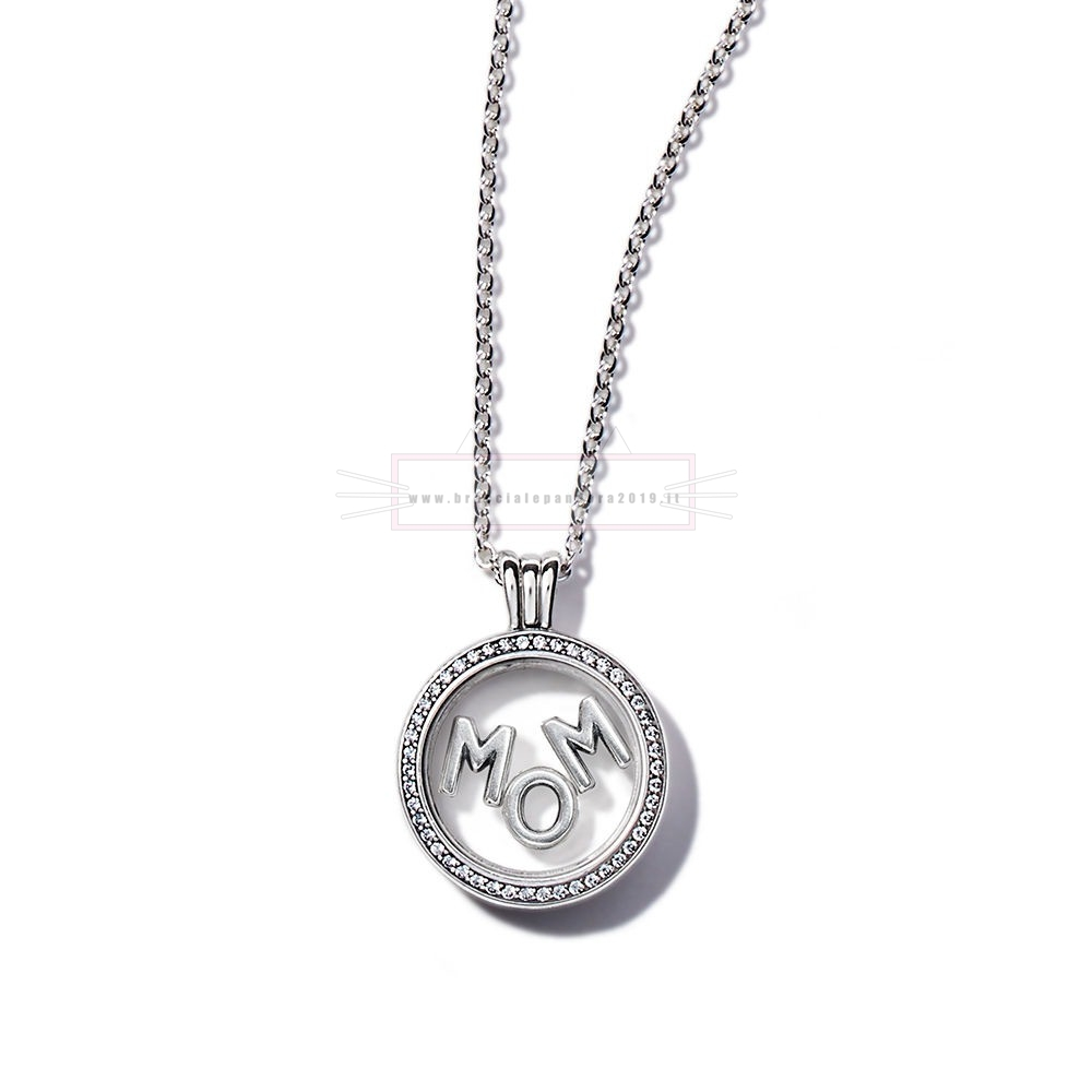 Ciondoli Pandora In Offerta Scintillante Mamma Floating Locket Regalo Impostato
